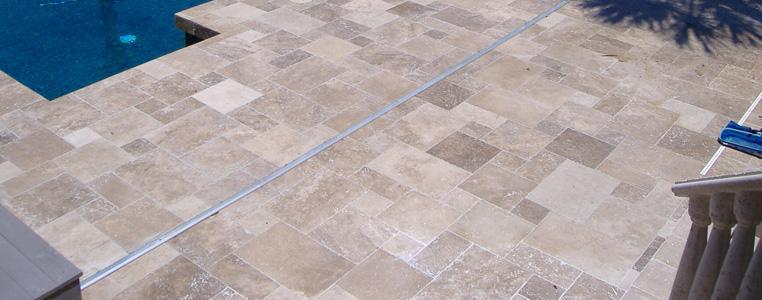 Travertine and Marble Decks